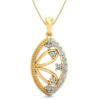 Glitterati By Asmi 14K Yellow Gold Diamond Pendant For Women