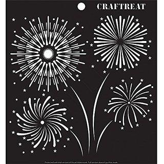CrafTreat Fireworks Stencil 6X6