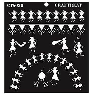 CrafTreat Warli Stencil 6X6