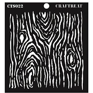 CrafTreat Woodgrain Stencil 6X6