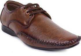 Foot N Style Brown Lace-Up Formal Shoes For Men's Fs318