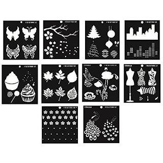 CrafTreat Layered 2 Step Stencil Bundle 6X6 - 10 pcs
