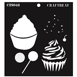CrafTreat Layered Stencil  Cup Cake 6X6