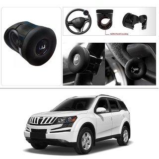 AutoStark Silicone Flat Compact Safe Slim Power Handle Steering Wheel Spinner Knob Mahindra Xuv 500