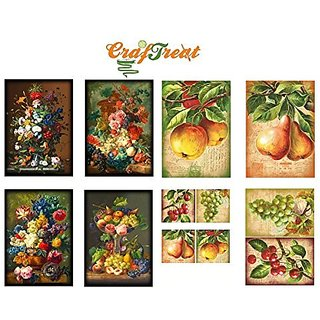 CrafTreat Decoupage A4 Paper - Vintage Oil Paintings 8/Pkg