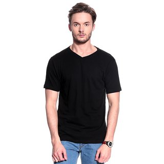 T-10 Sports Men'S Black Half Sleeve T-Shirts