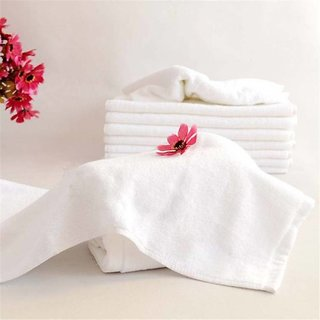 angle homes 12 cotton white face towel