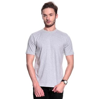 T-10 Sports MenS Grey Half Sleeve T-Shirts