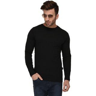 fa0d64c2fc1 Buy Rigo Black Bottom Side Zip Full Sleeve Slim Fit Tshirt For Men ...