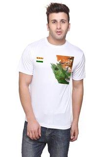 T-10 Sports Men'S White Half Sleeve T-Shirts