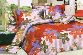 angel homes 1 double bed sheet 2 pillow cover (A one1)