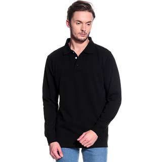 T-10 Sports Men'S Black Long Sleeve T-Shirts