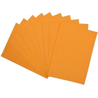 A4 EVA Foam Sheet 2mm thick used for Scrapbooking, Craft Projects,  Decorations: Pack of 5 sheets (Orange)