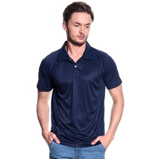 T-10 Sports Men'S Navy Half Sleeve T-Shirts