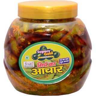Superv Gold green chilli Pickle 500gm