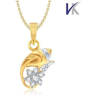 V. K Jewels BHIMAYA Pendant gold and Rhodium plated -  PS1027G