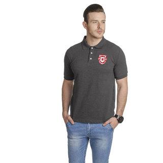 T-10 Sports Men'S Black Half Sleeve T-Shirts