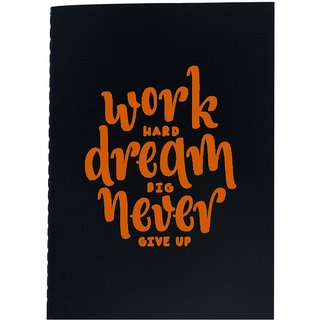 The Crazy Me Work Hard Dream Big Never Give Up Black Soft bound A6 Diary