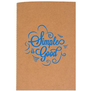 The Crazy Me Simple is Good Brown Soft bound A6 Diary