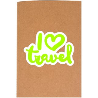The Crazy Me I Love Travel Brown Soft bound A5 Diary