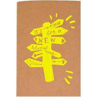 The Crazy Me It's Time For A New Adventure Brown Soft bound A5 Diary