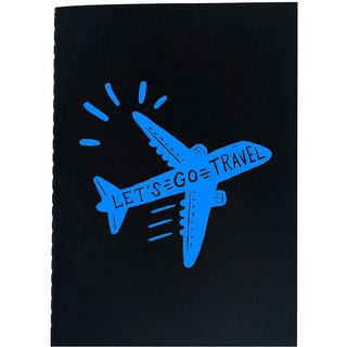The Crazy Me Let's Go Travel Black Soft bound A6 Diary