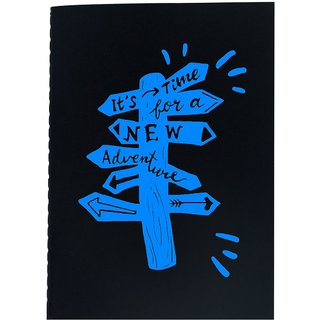 The Crazy Me It's Time For A New Adventure Black Soft bound A6 Diary