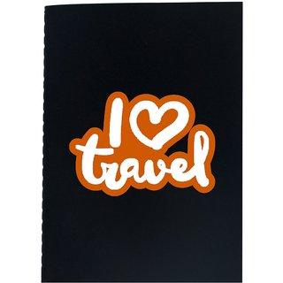 The Crazy Me I Love Travel Black Soft bound A6 Diary
