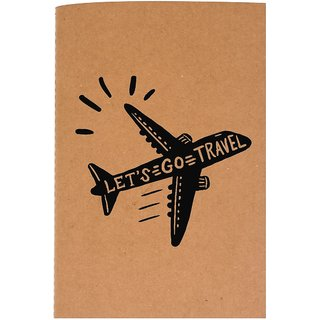 The Crazy Me Let's Go Travel Brown Soft bound A6 Diary