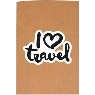 The Crazy Me I Love Travel Brown Soft bound A6 Diary