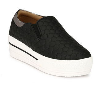 Groofer Women's Black Smart Casuals