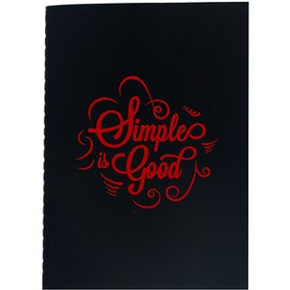 The Crazy Me Simple is Good Black Soft bound A5 Diary