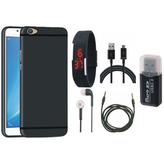 Lenovo K8 Plus Back Cover with Memory Card Reader, Digital Watch, Earphones, USB Cable and AUX Cable