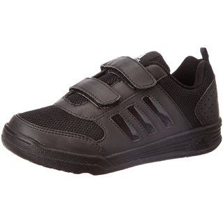 Adidas Boy's Flo K Black Velcro School Shoes