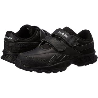 Reebok Boy's Racer KC LP School Black velcro School shoes Sports Shoes