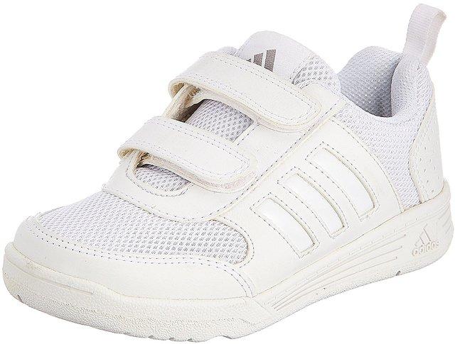 Adidas Boys Flo K School White Velcro School Shoes