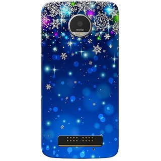 Moto Z Play Case, Blue Stars Slim Fit Hard Case Cover/Back Cover for Motorola Moto Z Play