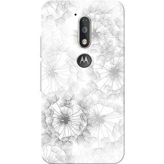 Moto G4 Plus, Flowers White Slim Fit Hard Case Cover/Back Cover for Moto G Plus 4th Gen/Moto G4 Plus
