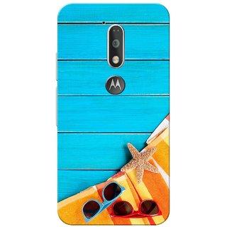 Moto G4 Plus, Summer Blue Slim Fit Hard Case Cover/Back Cover for Moto G Plus 4th Gen/Moto G4 Plus