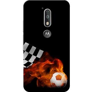 Moto G4 Plus, Football Blast Black Slim Fit Hard Case Cover/Back Cover for Moto G Plus 4th Gen/Moto G4 Plus