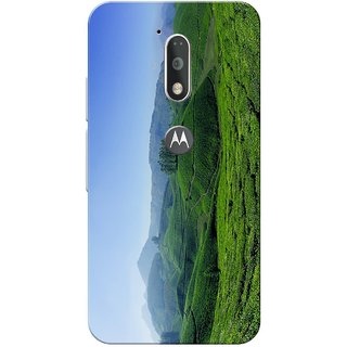 Moto G4 Plus, Nature Blue Green Slim Fit Hard Case Cover/Back Cover for Moto G Plus 4th Gen/Moto G4 Plus
