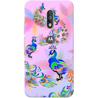 Moto G4 Plus, Peacock Flower Slim Fit Hard Case Cover/Back Cover for Moto G Plus 4th Gen/Moto G4 Plus