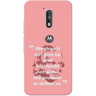 Moto G4 Plus, A.P.J abdul kalam quote Slim Fit Hard Case Cover/Back Cover for Moto G Plus 4th Gen/Moto G4 Plus
