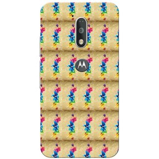 Moto G4 Plus, Paint Flower Pattern Slim Fit Hard Case Cover/Back Cover for Moto G Plus 4th Gen/Moto G4 Plus