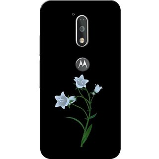 Moto G4 Plus, Orchid Flowers White Black Slim Fit Hard Case Cover/Back Cover for Moto G Plus 4th Gen/Moto G4 Plus