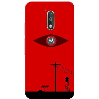 Moto G4 Plus, Red Eye Night Slim Fit Hard Case Cover/Back Cover for Moto G Plus 4th Gen/Moto G4 Plus