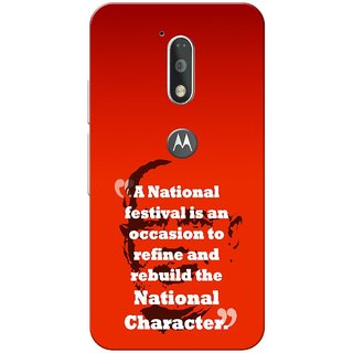 Moto G4 Plus, Modi Quote Slim Fit Hard Case Cover/Back Cover for Moto G Plus 4th Gen/Moto G4 Plus