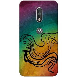 Moto G4 Plus, Rainbow Girl Slim Fit Hard Case Cover/Back Cover for Moto G Plus 4th Gen/Moto G4 Plus