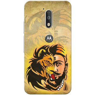 Moto G4 Plus, Lion Shivaji Slim Fit Hard Case Cover/Back Cover for Moto G Plus 4th Gen/Moto G4 Plus
