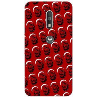 Moto G4 Plus, Red Night Fox Pattern Slim Fit Hard Case Cover/Back Cover for Moto G Plus 4th Gen/Moto G4 Plus
